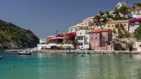 Assos, Kefalonia Griechenland lizenzfreies stockbild