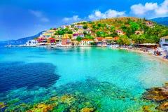Assos strand Fotografering för Bildbyråer