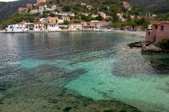 Assos Village In Cephalonia Royalty Free Stock Photo