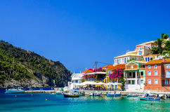 Assos village on the Island of Kefalonia in Greece Stock Photo