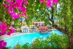 Assos village in Kefalonia. Greece Royalty Free Stock Photo