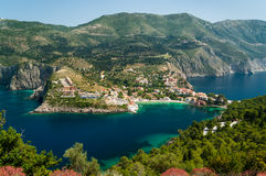 Assos. Village of Assos in Kefalonia, Greece Stock Images