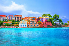 Assos village. Kefalonia island, Greece Royalty Free Stock Images