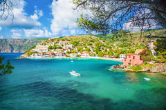 Assos village Stock Image