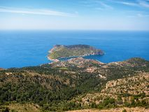 Assos village in Kefalonia island, Greece Royalty Free Stock Photos