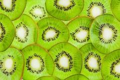 Assottigli il kiwi affettato Fotografia Stock