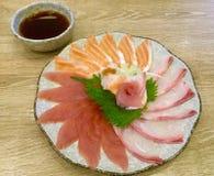 Assottigli il sashimi affettato Squisitezza giapponese Immagine Stock Libera da Diritti