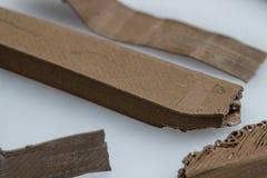 Assottigli l'ingranaggio stampato 3D verde con gli strati visibili di plastica che è sostenibile Fotografie Stock