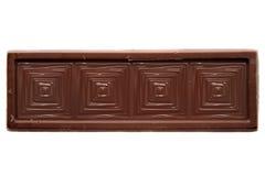 Assottigli la vista superiore quadrata della barra di cioccolato fotografie stock