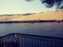 Assouan et Nil photo libre de droits