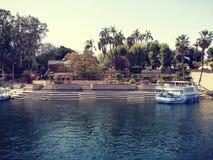 Assuan ed il Nilo immagini stock libere da diritti