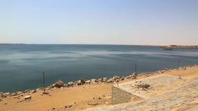 Assuan-Staudamm in der hohen Verdammung - Ägypten stock footage