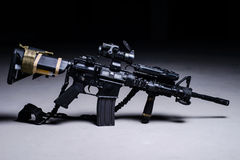 Assult automatic rifle. M4 with optical sight royalty free stock image