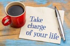 Assuma il controllo della vostra vita Immagini Stock