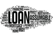 Assumable Loans And Resale Value Word Cloud Concept. Assumable Loans And Resale Value Text Background Word Cloud Concept royalty free illustration