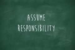 Free Assume Responsibility Handwritten On Blackboard Stock Photo - 41762940