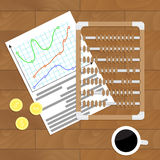 Assume statistics vector. Presentation infochart data, illustration of analysis statistic file Stock Images