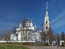 Assumption Cathedral and Belfry in Kineshma, Russia Stock Photo