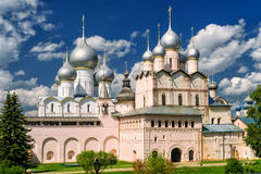 Assumption Cathedral and church of the Resurrection in Rostov Kr Royalty Free Stock Photo