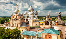Assumption Cathedral and church of the Resurrection in Rostov Kr Royalty Free Stock Image