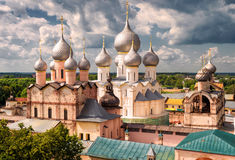 Assumption Cathedral and church of the Resurrection in Rostov Kr Stock Image