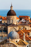 Assumption Cathedral, Church of Saint Blaise in the old part in Dubrovnik, Croatia Royalty Free Stock Images