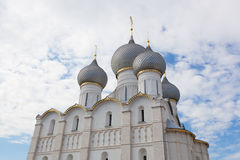 Assumption Cathedral domes in Rostov Stock Image