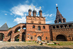 Assumption Cathedral on the historic street in central Moscow Royalty Free Stock Images
