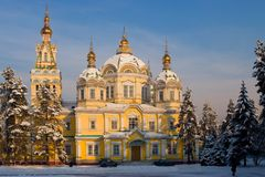 Assumption Cathedral In Kazakhstan Royalty Free Stock Photo