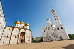 Assumption Cathedral and Ivan the Great Bell Tower Stock Photography