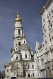 Assumption Cathedral in the Kharkiv city center.  royalty free stock photo