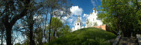 Assumption Cathedral in Kharkov. Assumption Cathedral in Kharkov,Ukraine (Panoramic view Stock Photos