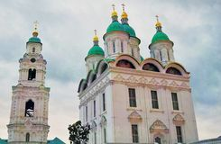Assumption cathedral. Kremlin in Astrakhan, Russia. Color photo. Stock Photography