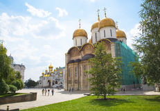 Assumption Cathedral in the Kremlin in Moscow, Russia. Stock Photo