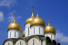 The Assumption Cathedral (Moscow Kremlin, Russia). The Assumption Cathedral (Moscow Kremlin, Russia, travel Royalty Free Stock Images