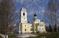 Assumption Cathedral in Myshkin, Russia. Built in 1805-1820. Late Spring Royalty Free Stock Photography