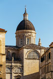 Assumption Cathedral in the old part of the city of Dubrovnik, Croatia. Royalty Free Stock Photo