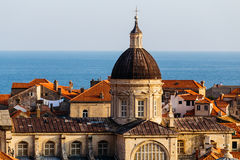 Assumption Cathedral in the old part in Dubrovnik, Croatia. Stock Photos