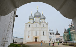 Assumption cathedral in Rostov Kremlin, Russia Royalty Free Stock Photos