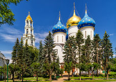 Assumption Cathedral in Trinity Sergius Lavra, Sergiyev Posad Stock Photos