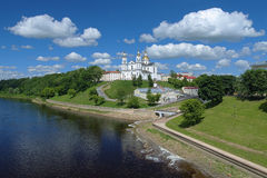 Assumption cathedral in Vitebsk, Belarus. Assumption (Uspensky) cathedral on the high bank of Western Dvina River in Vitebsk, Belarus royalty free stock image