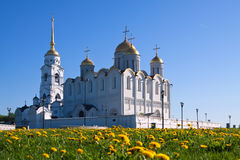 Assumption cathedral  at Vladimir. In summer, Russia. Constructed between 1158�1160 Royalty Free Stock Image
