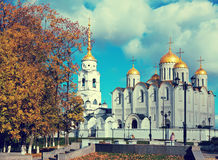 Assumption cathedral at Vladimir in autumn Stock Image
