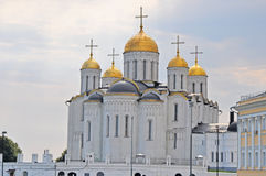 Assumption Cathedral in Vladimir city. View of Assumption Cathedral of tvelfth century in historical centre of Vladimir city, Russia Royalty Free Stock Image