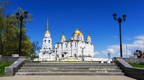 Assumption Cathedral in Vladimir. gold ring of Russia Stock Image