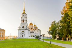 The Assumption Cathedral in Vladimir. Golden Ring of Russia.  Royalty Free Stock Images