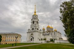 The Assumption Cathedral in Vladimir is the main sight of the city of Vladimir, Russia. Travel Royalty Free Stock Photo