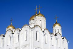 Assumption cathedral in Vladimir, Russia. UNESCO World Heritage Site. Popular touristic landmark Royalty Free Stock Photography