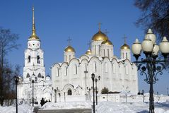 Assumption cathedral in Vladimir, Russia. UNESCO World Heritage Site. Popular touristic landmark Stock Photography
