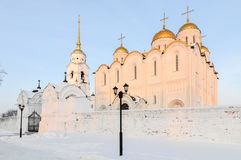 Assumption Cathedral - Vladimir, Russia. Assumption cathedral in Vladimir, Russia in the winter Royalty Free Stock Images